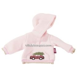 GÖTZ HOODIE ROSE BRODE - vêtement Götz pour poupées