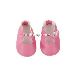 GÖTZ CHAUSSURES A BRIDE ROSES - chaussures Götz pour poupées