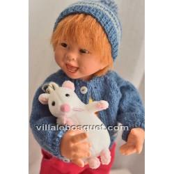 POUPEE MÜLLER WICHTEL HINZ - poupée de collection de Rosemarie Müller
