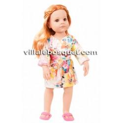 GÖTZ KIMONO/PEIGNOIR POUR POUPEES - vêtement Götz pour poupées