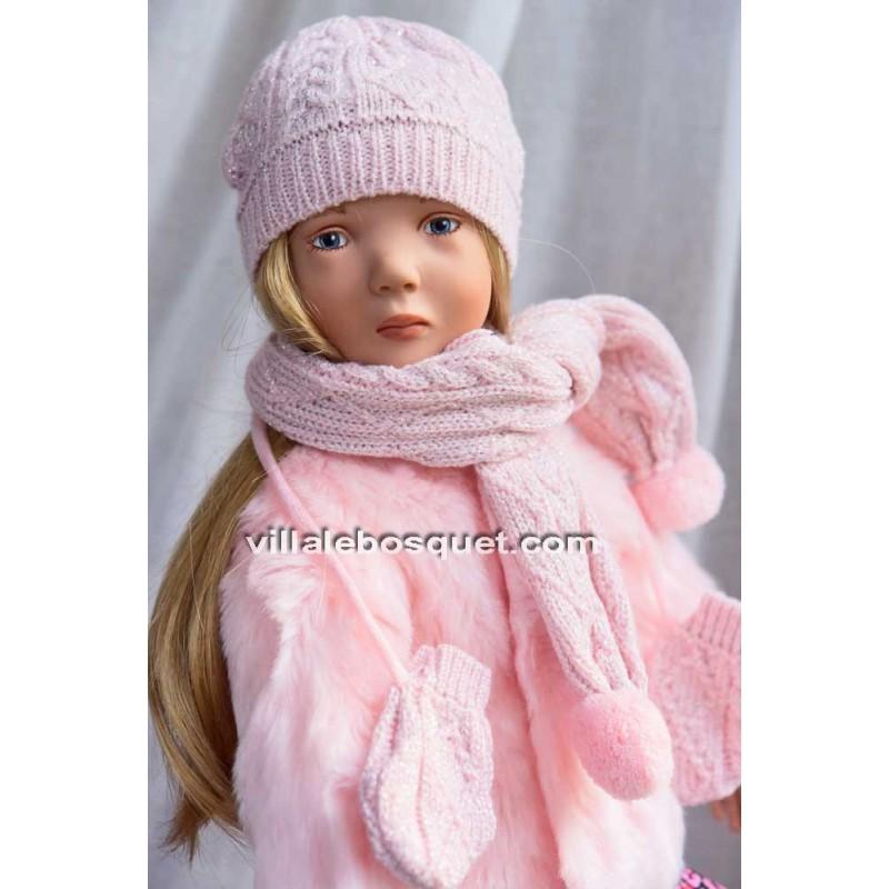 GÖTZ VESTE HIVERNALE ROSE - vêtement Götz pour poupées