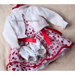 GÖTZ ROBE ENSEMBLE AUX COEURS - vêtement Götz pour poupées