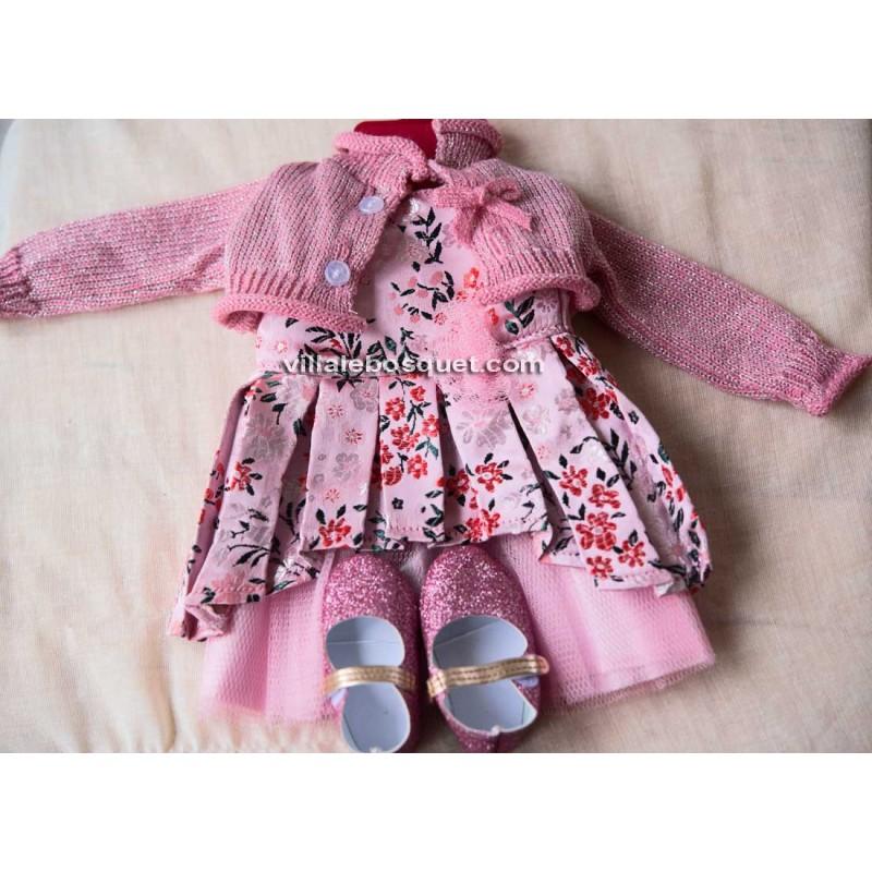 GÖTZ ROBE DE BROKAT - vêtement Götz pour poupées