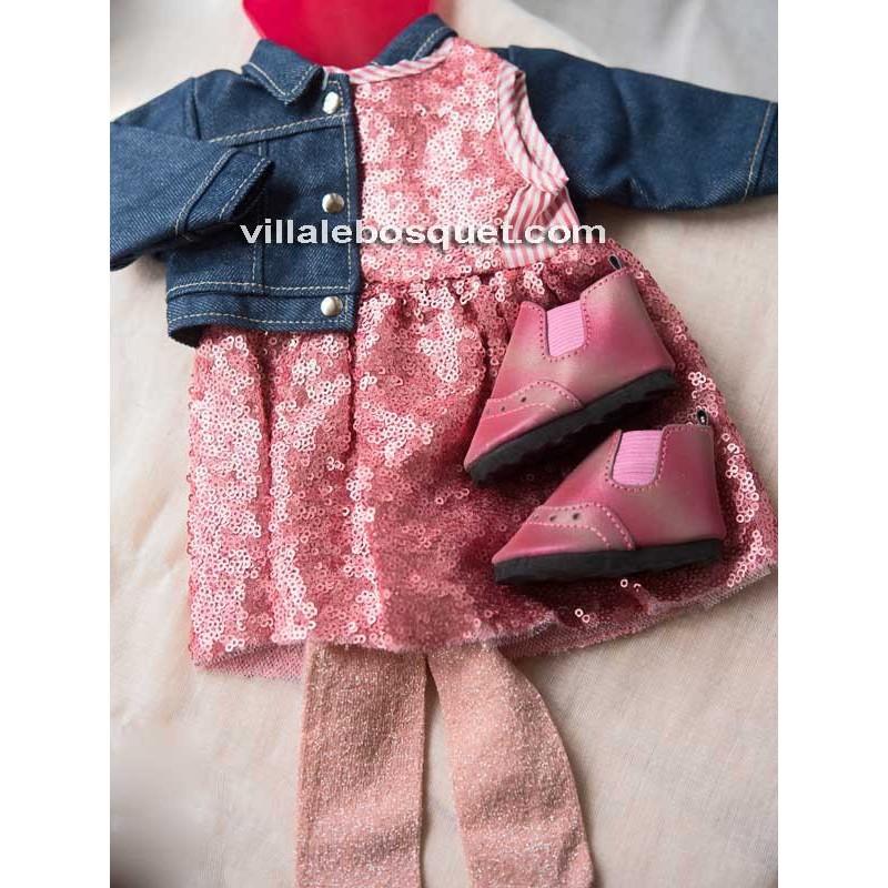 GÖTZ ROBE EN PAILLETTES - vêtement Götz pour poupées