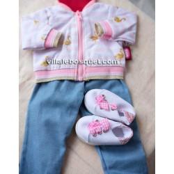GÖTZ ENSEMBLE FLAMANT ROSE - vêtement Götz pour poupées