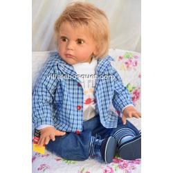 SCHILDKRÖT TODDLER AARON - poupée d'artiste de Gudrun Legler