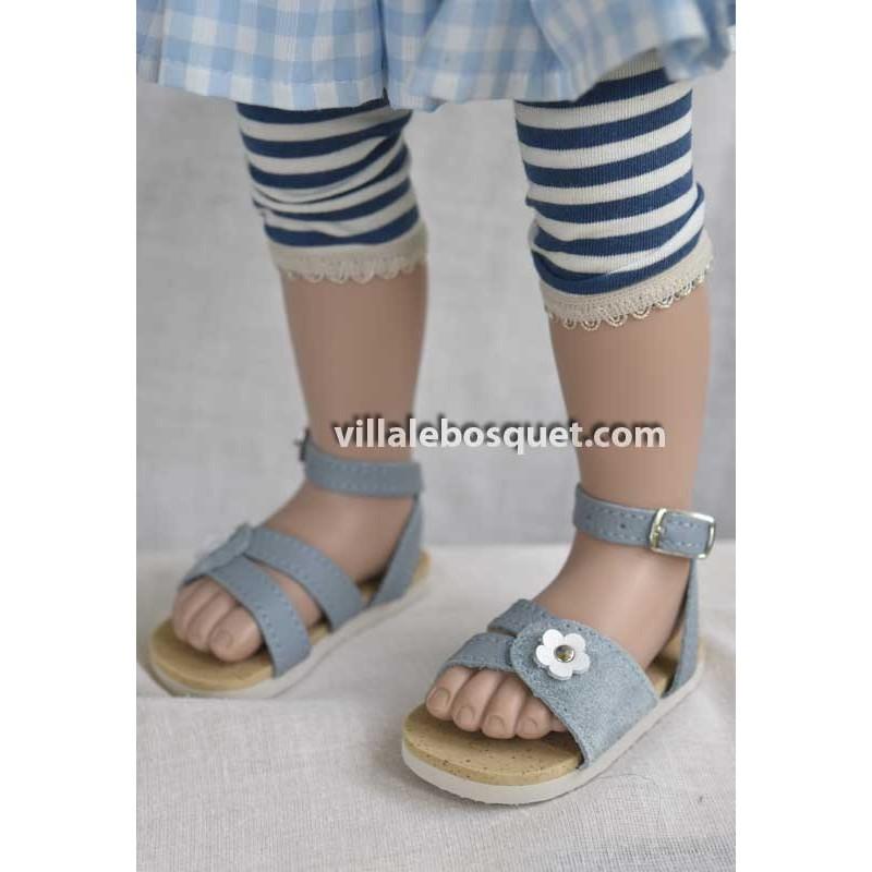 Sandales en cuir poupées par Wagner