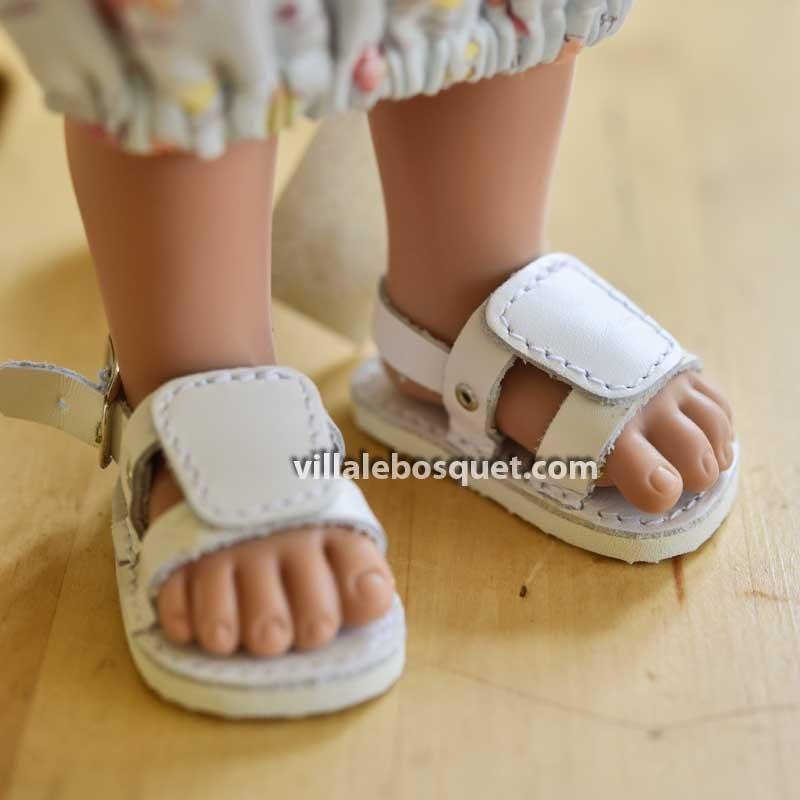 Sandales en cuir pour poupées par Wagner