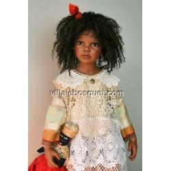 La belle poupée Imani de Zawieruszynski, OOAK.