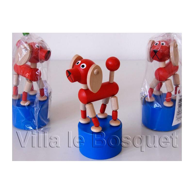 WAKOUWA TCHEQUE CHIEN - jouet en bois de collection