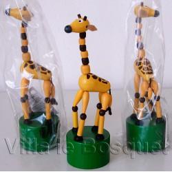 WAKOUWA TCHEQUE GIRAFE - jouet en bois de collection