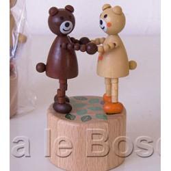 WAKOUWA TCHEQUE OURS BRUN - jouet en bois de collection