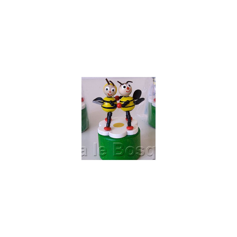 WAKOUWA TCHEQUE ABEILLES - jouet en bois de collection