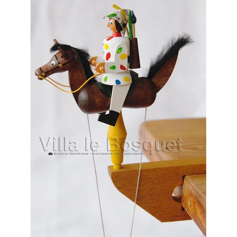 Deco Maison Cavalier A Pendule Peintre Cadeau Jouet En