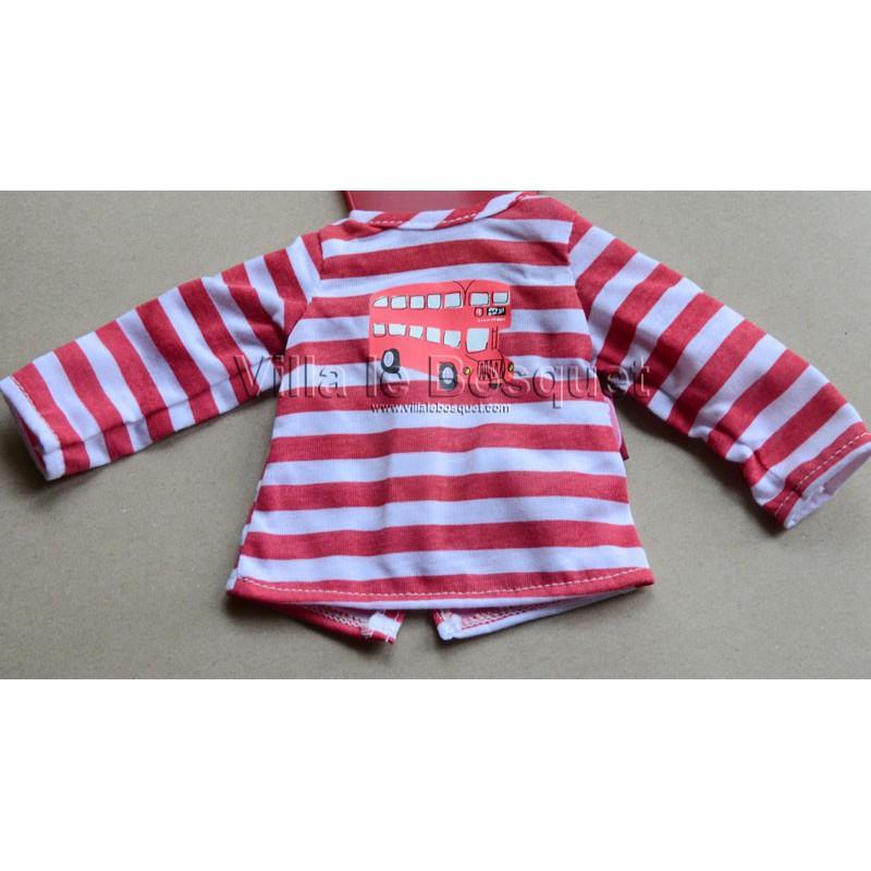 GÖTZ T-SHIRT RAYE - vêtement Götz pour poupées