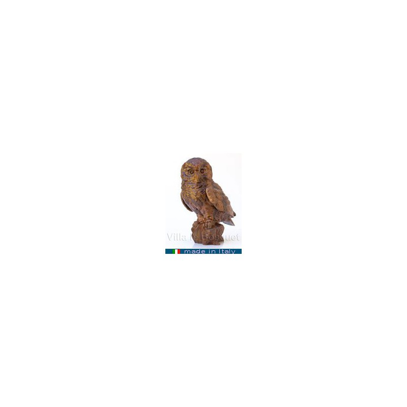 CHOUETTE - figurine de collection - animal en bois