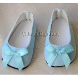 FINOUCHE BALLERINES DE POUPEE BLEUES - chaussures de poupée