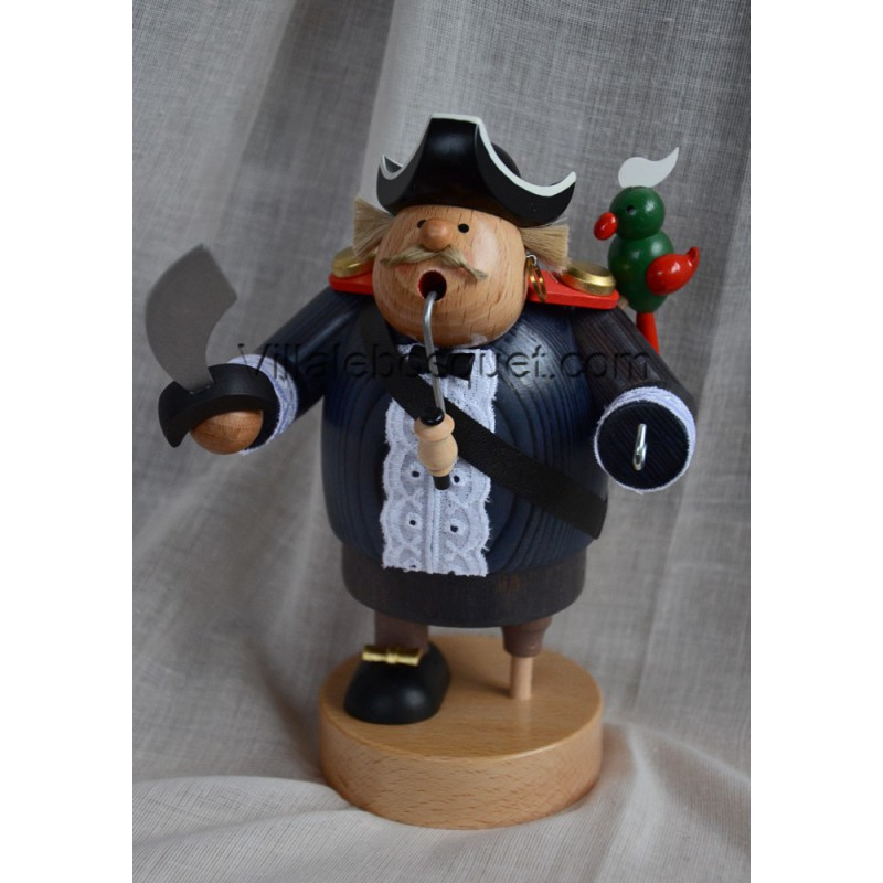 DECO MAISON CAPTAIN HOOK LE PIRATE - figurine en bois - cadeau decoratif