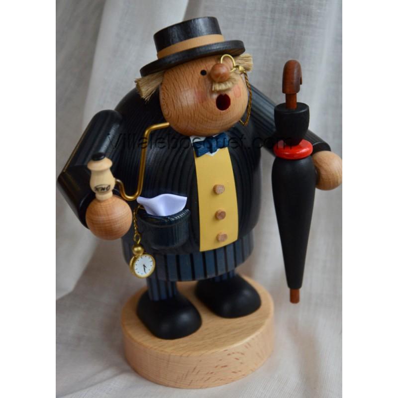 DECO MAISON GENTLEMAN - figurine en bois - cadeau decoratif