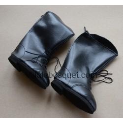 WE GIRLS BOTTES NOIRES DE POUPEE - chaussures We Girls pour poupées