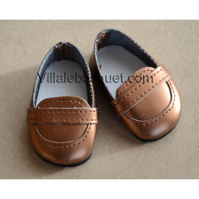 FINOUCHE MOCASSINS DE POUPEE BRUNS - chaussures de poupée