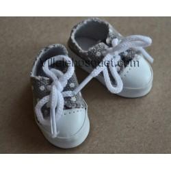 MINOUCHE TENNIS DE POUPEE GRIS 34 cm - chaussures de poupée