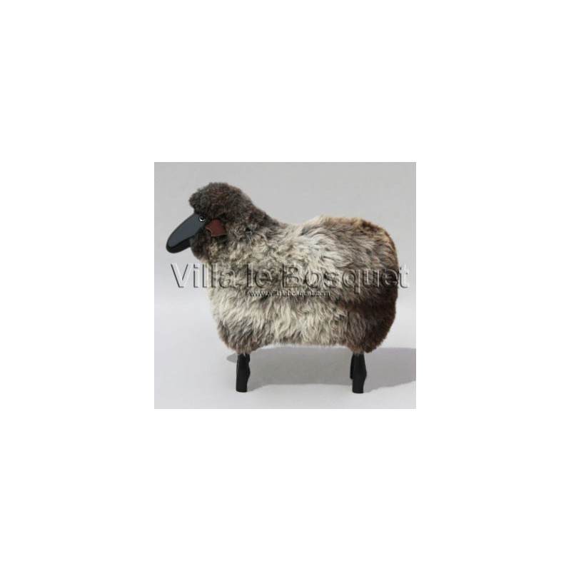 deco maison mouton gris d co mouton en bois avec v ritable toison de laine villa le bosquet. Black Bedroom Furniture Sets. Home Design Ideas