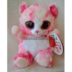 PELUCHE ANIMOTSU CHAT ROSE - peluche de Keel Toys