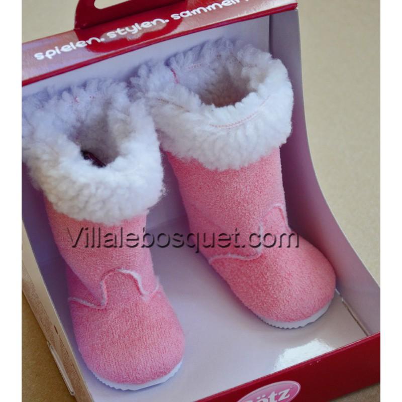 GÖTZ BOTTES ROSES POUR POUPEES - chaussures Götz pour poupées