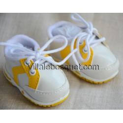 CHAUSSURES BASKETS JAUNES POUR WICHTEL - chaussures de poupées