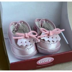 GÖTZ CHAUSSURES POUR POUPEES ROSES - chaussures Götz pour poupées