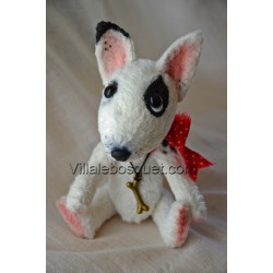 PELUCHE BULL TERRIER - peluche de collection