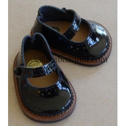 CHAUSSURES WAGNER EN CUIR NOIR BALLERINES - chaussures de poupées