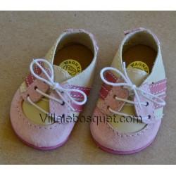 CHAUSSURES DE SPORT WAGNER EN CUIR ROSE - chaussures de poupées