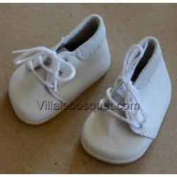 BOOTS WAGNER EN CUIR BLANC - chaussures de poupées