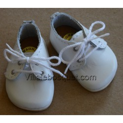CHAUSSURES WAGNER EN CUIR BLANC - chaussures de poupées