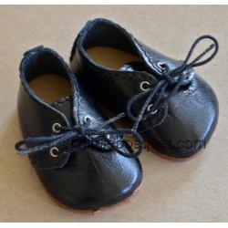 CHAUSSURES WAGNER EN CUIR NOIR - chaussures de poupées