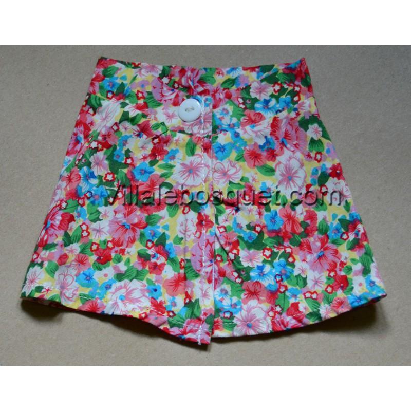 WE GIRLS JUPE A FLEURS BOUTON - vêtement We Girls pour poupées