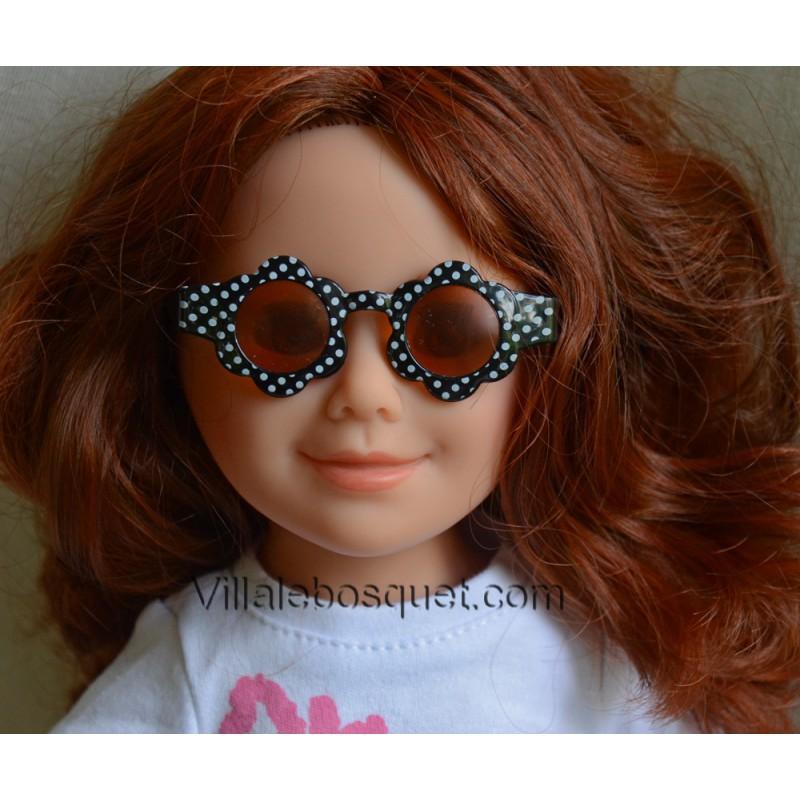 WE GIRLS LUNETTES DE SOLEIL RONDES NOIRES - accessoire We Girls pour poupées