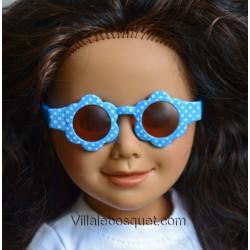 WE GIRLS LUNETTES DE SOLEIL RONDES BLEUES - accessoire We Girls pour poupées