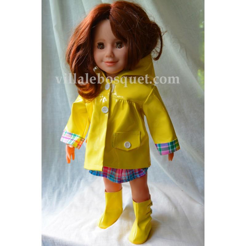we girls cire de pluie jaune v tement we girls pour poup es villa le bosquet. Black Bedroom Furniture Sets. Home Design Ideas