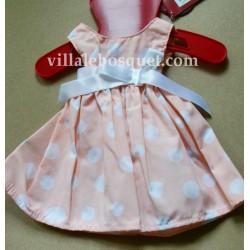 GÖTZ ROBE A POIS - vêtement Götz pour poupées