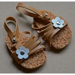 SANDALES WAGNER EN CUIR ( WICHTEL 26 CM) - chaussures de poupées