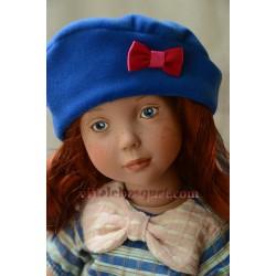 WE GIRLS BERET BLEU EN VELOURS - vêtement We Girls pour poupées