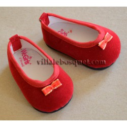 WE GIRLS BALLERINES ROUGES DE POUPEE - chaussures We Girls pour poupées