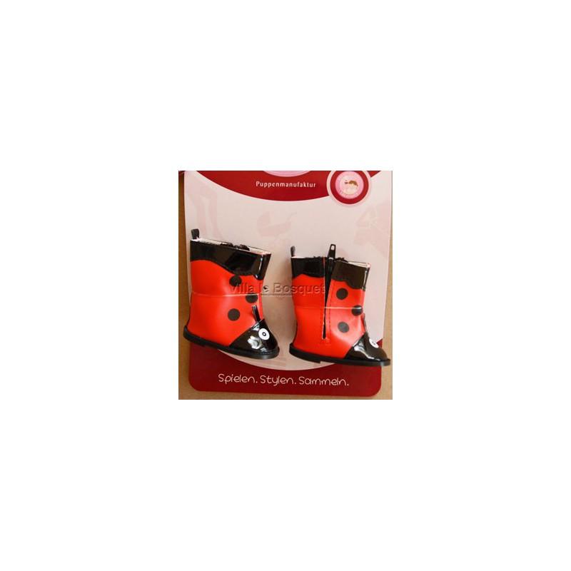 GÖTZ BOTTES DE PLUIE COCCINELLE - chaussures Götz pour poupées