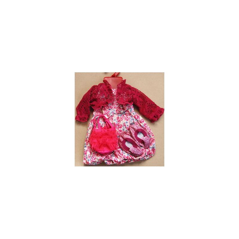 ROBE FLEURIE AVEC BOLERO - vêtement Götz pour poupées