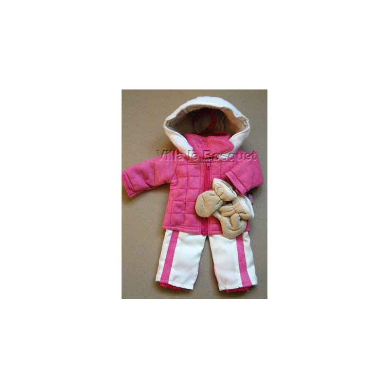 GÖTZ VETEMENT DE SKI ROSE - vêtement Götz pour poupées