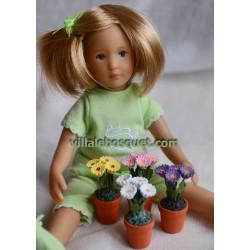 PETITS POTS DE FLEURS - accessoires de poupées