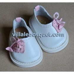CHAUSSURES HAVERL WAGNER EN CUIR BLANC  - chaussures de poupées